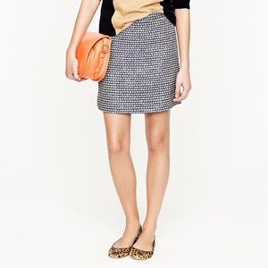 J. Crew Metallic Tweed Postage Stamp Mini Skirt